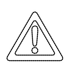 attention virtual warning mark with triangle sign vector image