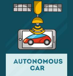 Autonomous car concept vector