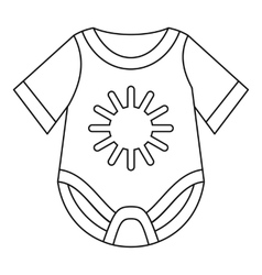 Baby bodysuit icon outline style vector image