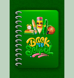back to school vertical cheerful cover design vector image