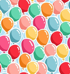 Balloons pattern vector