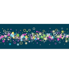 Banner with geometric pattern vector