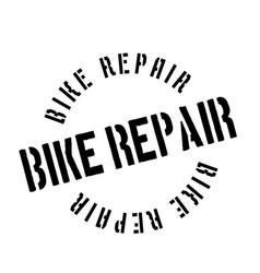 bike repair rubber stamp vector image