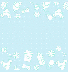 Border frame background with baby care symbols vector