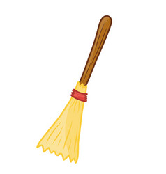 Broom isolated vector