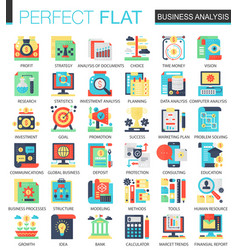 Business analytics complex flat icon vector