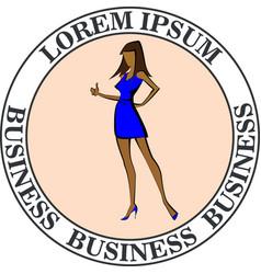 business woman ok vector image