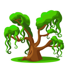 Cartoon tree from a magical land vector