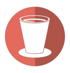 Chocolate cup beverage breakfast - round icon vector