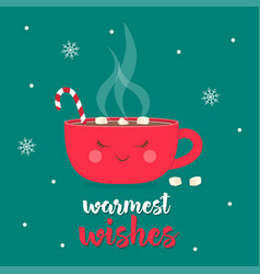 Christmas coffee time vector