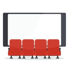 Cinema chairs front of tv vector