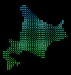 Circle dot hokkaido island map vector