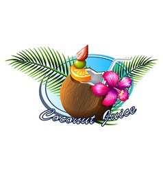 Coconut sign with text vector