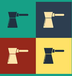 Color coffee turk icon isolated on color vector