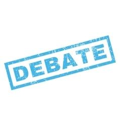 Debate rubber stamp vector