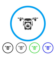drugs drone delivery rounded icon vector image