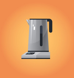 electric kettle icon kitchen equipment home vector image