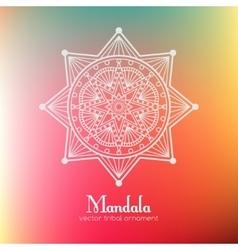 Ethnic round mandala vector