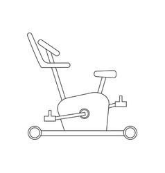exercise bike coloring page vector image