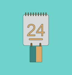 flat icon on background calendar ukraines vector image