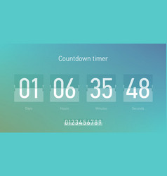 Flip countdown clock counter timer coming soon vector