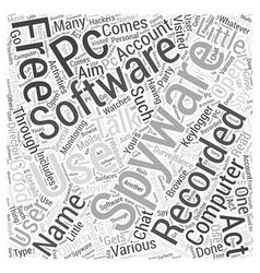 Free spyware software Word Cloud Concept vector