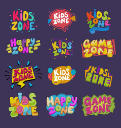 Game room kids playroom banner in cartoon vector