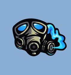 Gas mask mascot vector