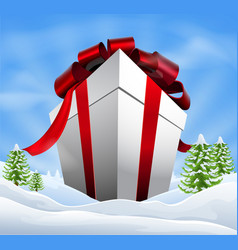 Giant christmas gift vector