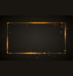 gold shiny glitter glowing vintage frame vector image
