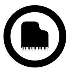 grand piano icon black color simple image vector image