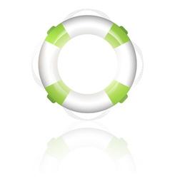 Green lifebuoy vector