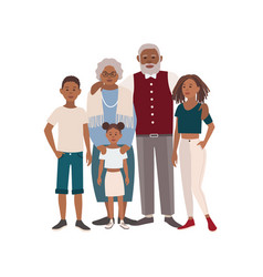 Happy african american family portrait vector