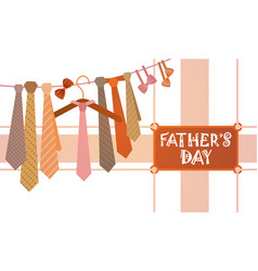 Happy father day family holiday necktie greeting vector