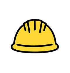 Hardhat icon with color variations isolated on vector