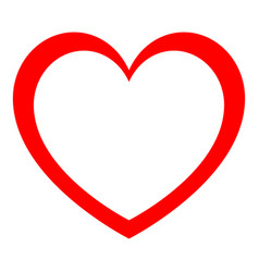 heart red color with empty in center vector image