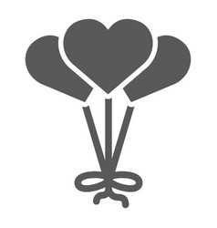 heart shaped balloon glyph icon decoration and vector image