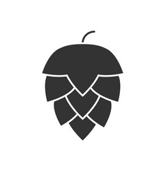 hop black icon vector image