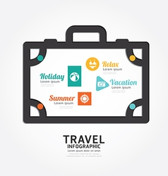 Infographics travel luggage design diagram line vector