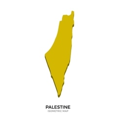 Isometric map of palestine detailed vector