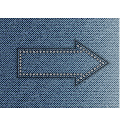 Jeans arrow vector