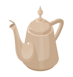 kettle vintage icon isometric 3d style vector image