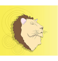 lion portrait on a colored background vector image