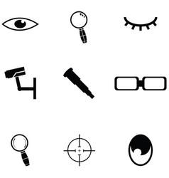 look icon set vector image