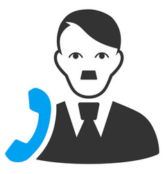 Manager call flat icon vector