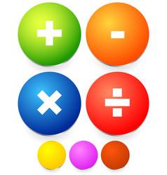 math mathematics symbol calculation calculator vector image