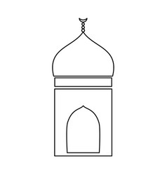 Mosque black color icon vector