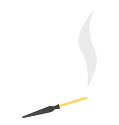mouthpiece with a cigarette cartoon vector image