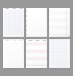 Notebook sheet sheets torn from notebook paper vector
