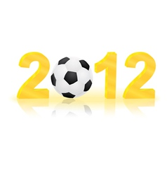 number 2012 with ball vector image
